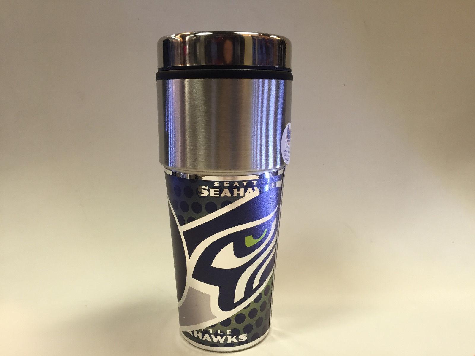 NFL Seattle Seahawks 360 Wrap Travel Tumbler Coffee Mug 13259