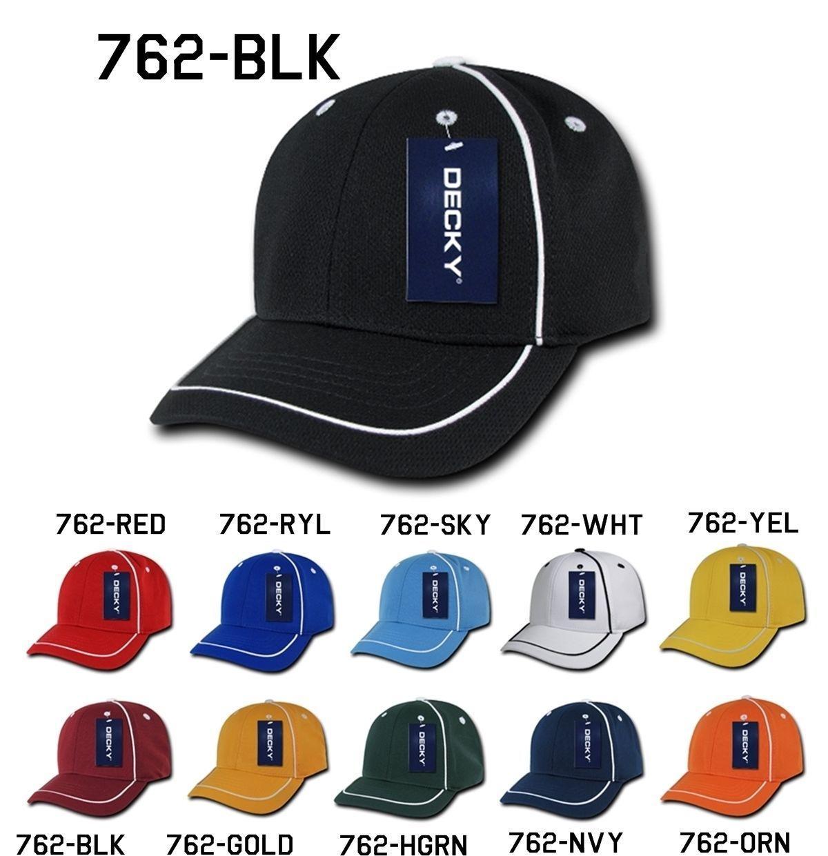 DECKY Blank Performance Mesh Piped Jersey Mesh Baseball snapback Caps Cap 762