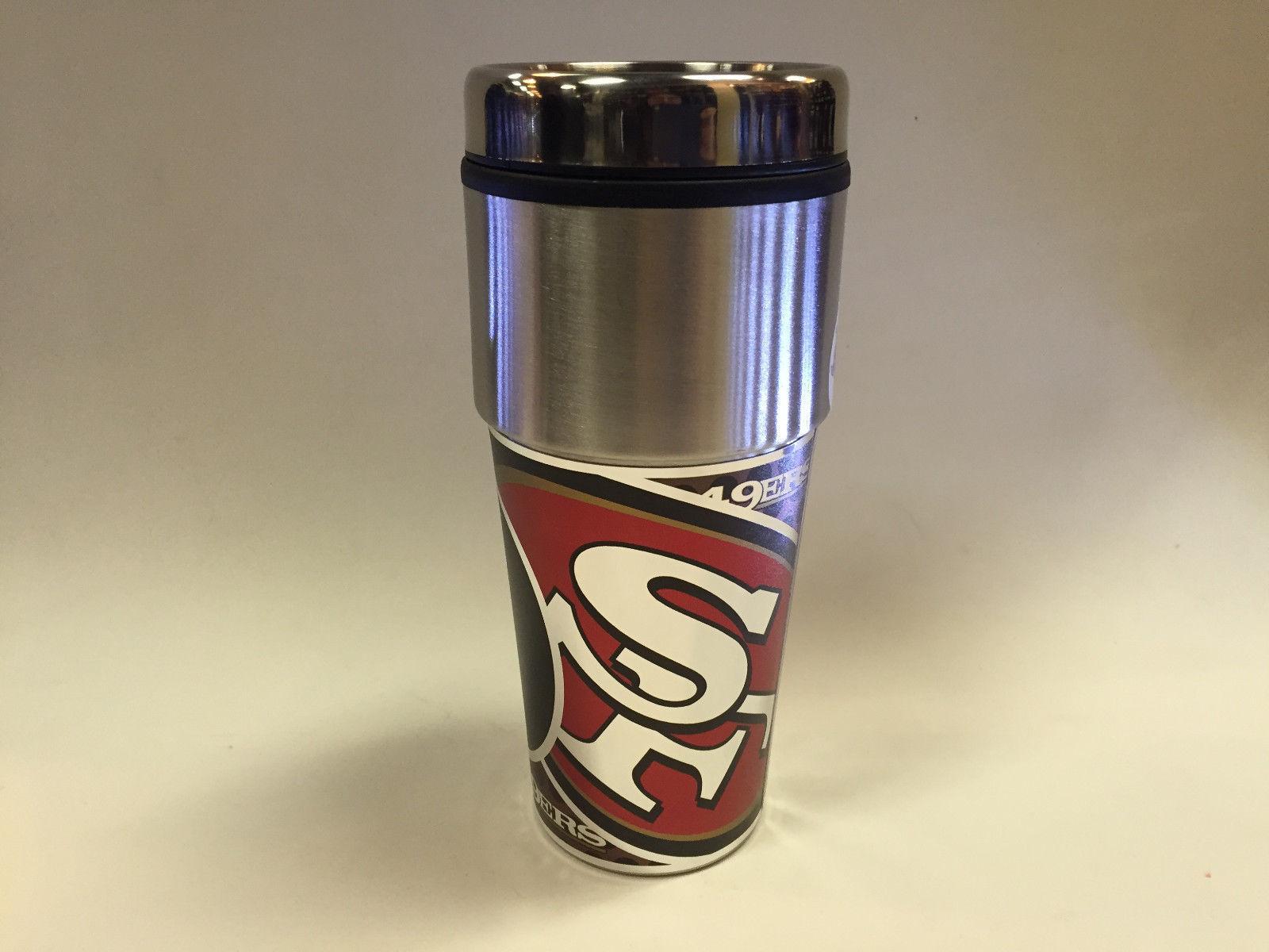 NFL San Francisco 49ers 360 Wrap Travel Tumbler Coffee Mug 13258