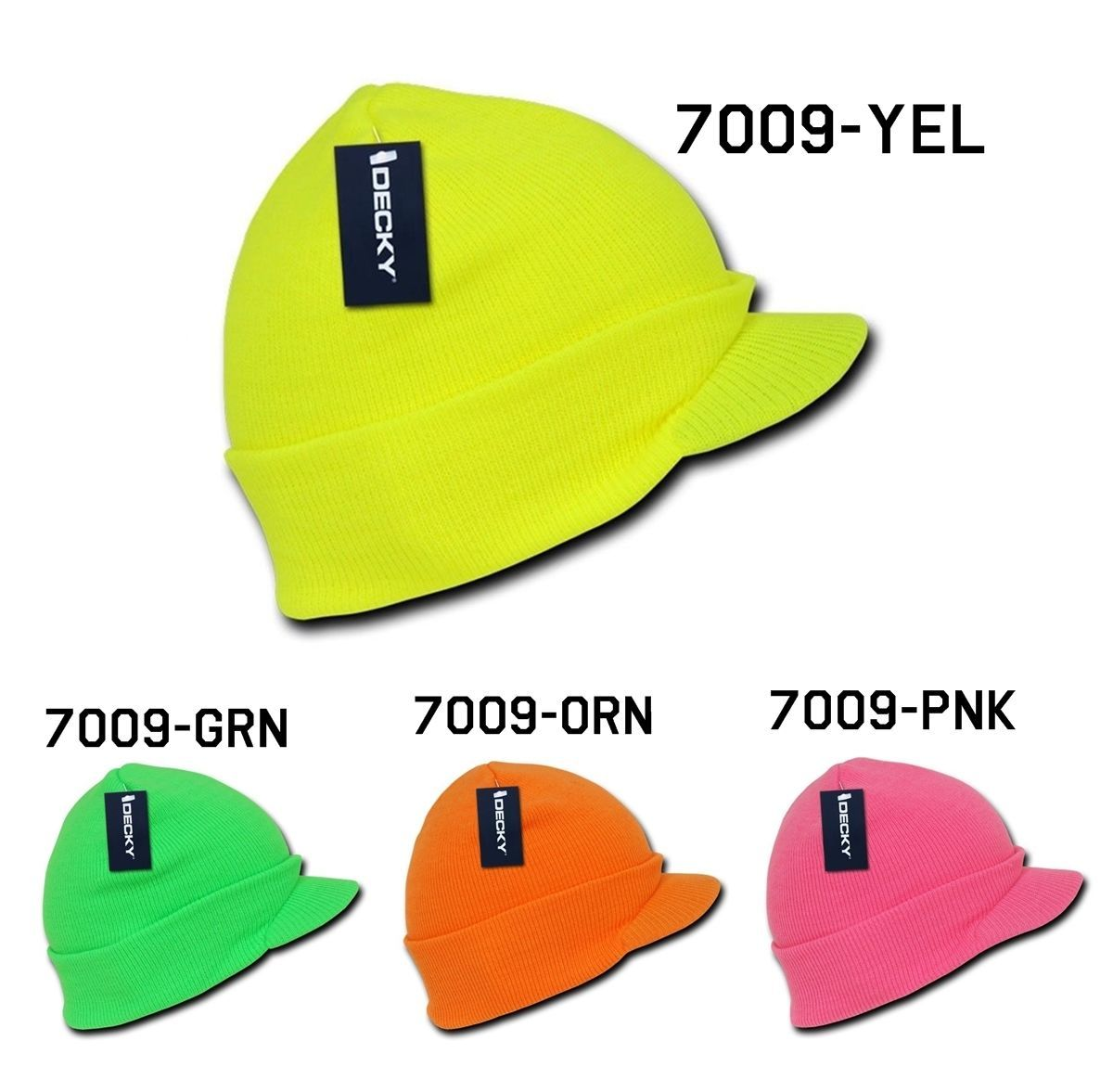 CUSTOM EMBROIDERY Personalized Customized Decky Neon Jeep Precurved Visor 7009