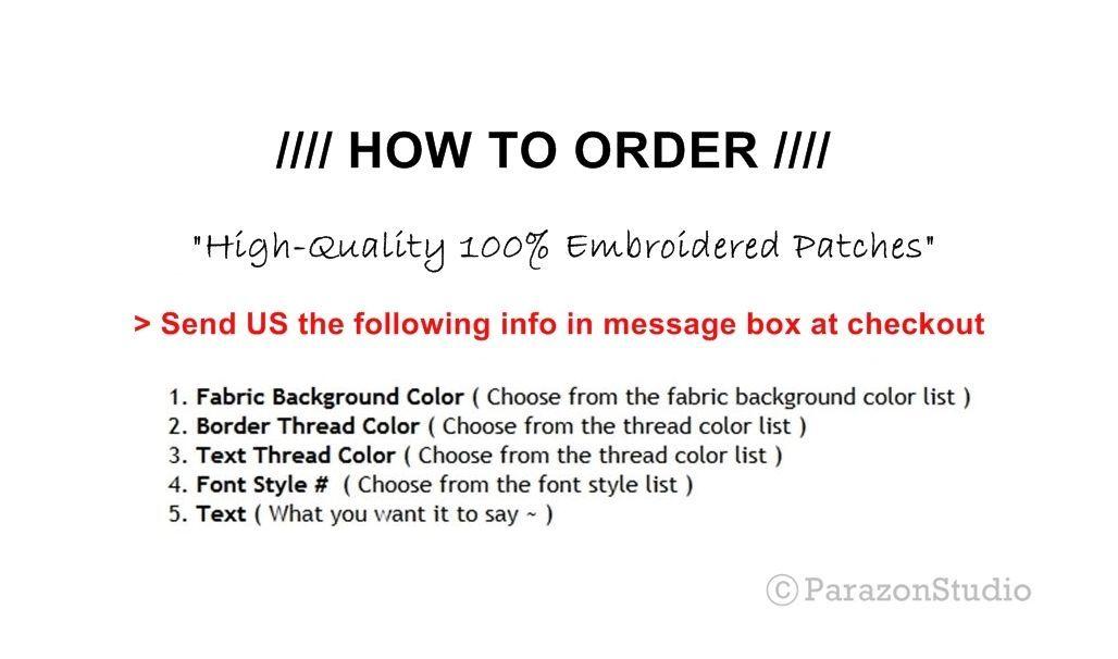 "Custom Embroidered Motorcycle Biker Diamond Tag % MC Patch Badge 2.5"" X 2.5"" (B)"