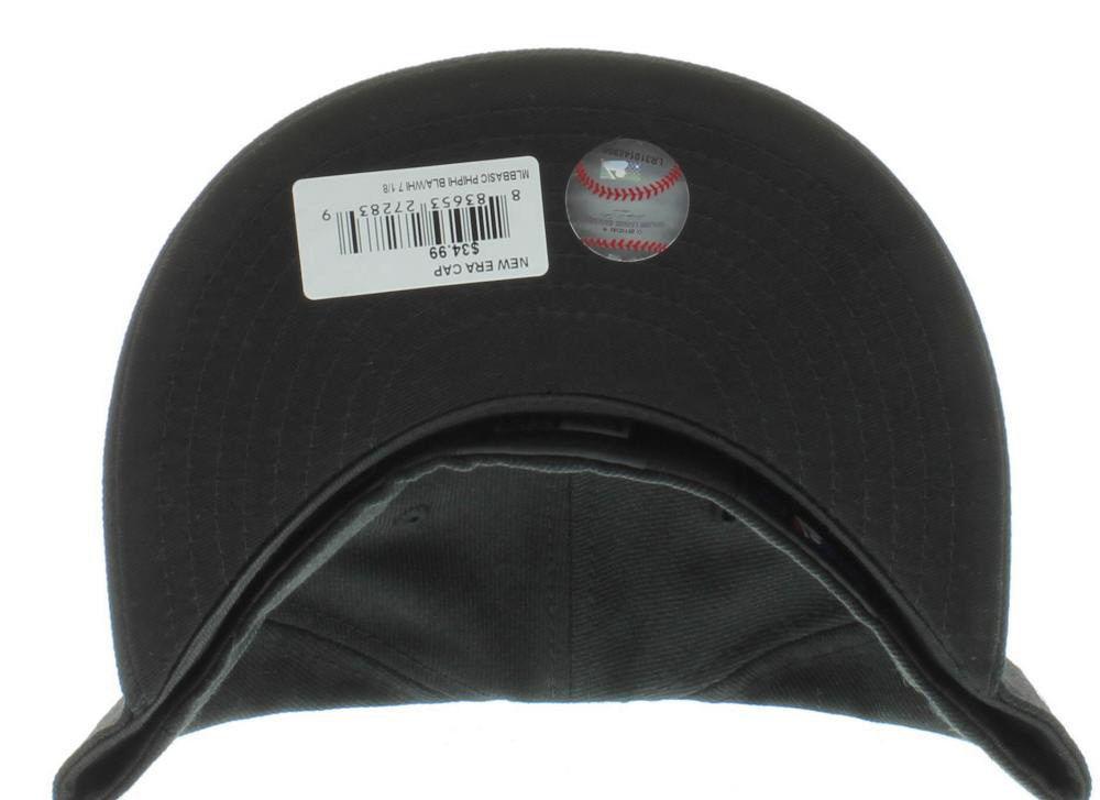 New Era 59Fifty MLB Philadelphia Phillies Black White Fitted Cap