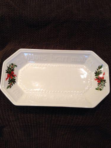 Pfaltzgraff Server Plate Hertitage Christmas Bread Platter Cookie Dish Tray