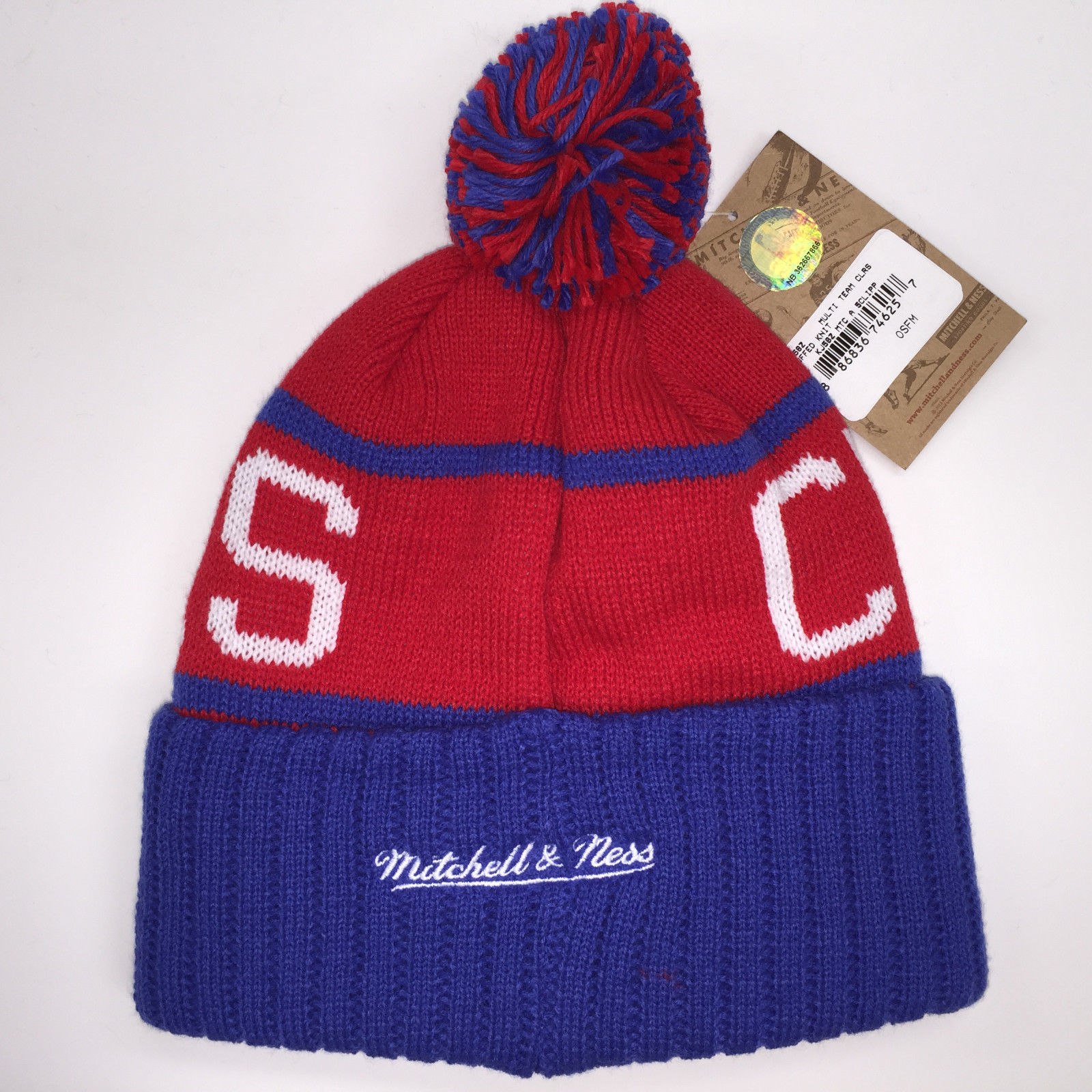 Mitchell & Ness NBA Los Angeles Clippers High 5 Cuffed Knit Beanie 10097