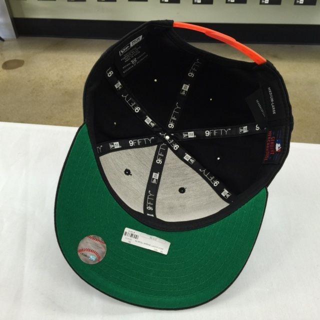 New Era 9FIFTY MLB Miami Marlins Black OSFA Adjustable Snapback  #6474
