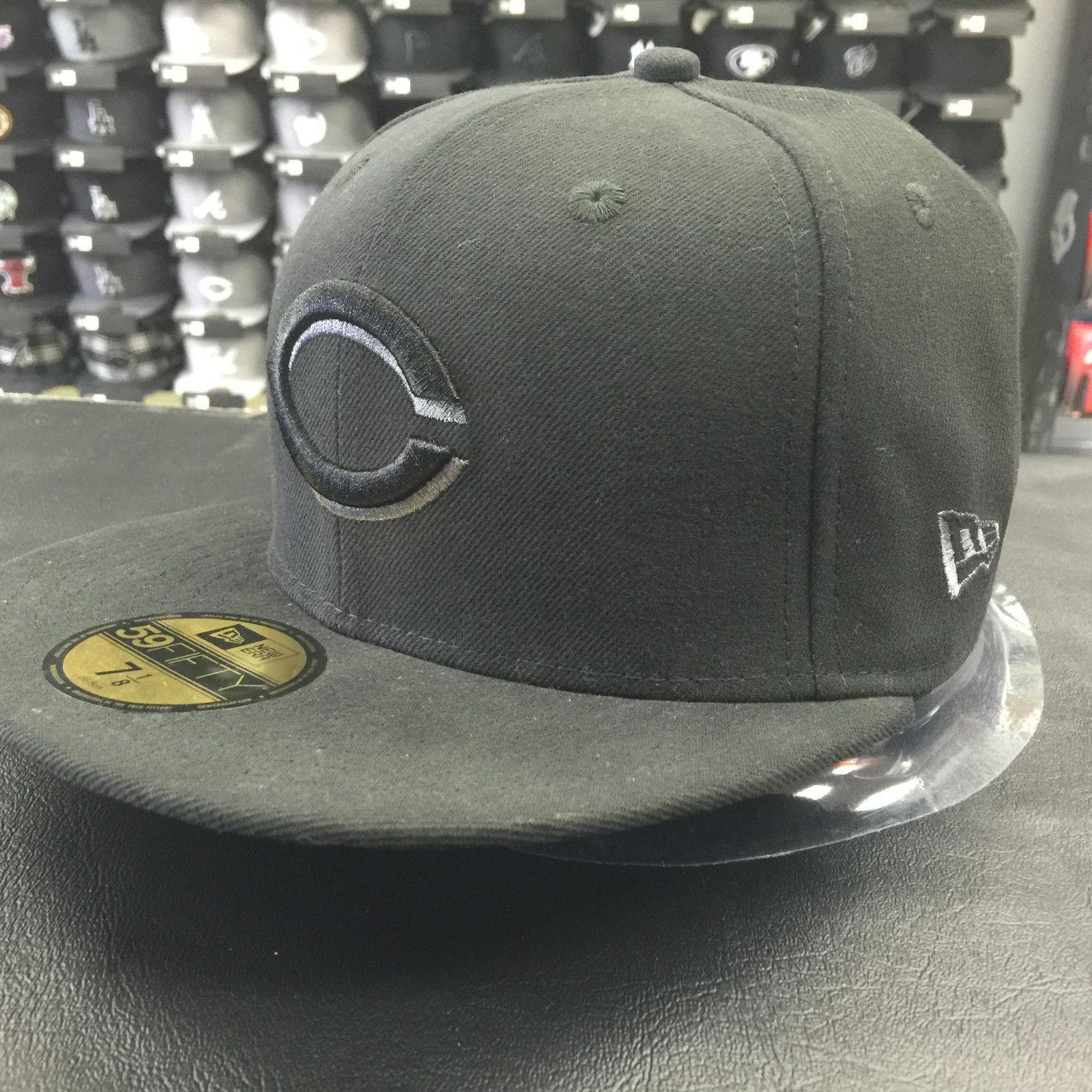 New Era 59Fifty Cincinnati Reds Black Gray Basic Fitted Cap