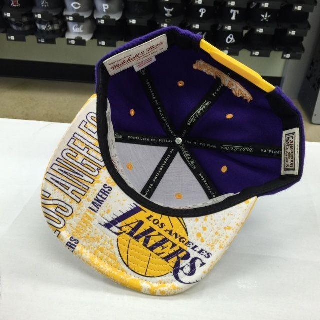 Mitchell & Ness NBA Los Angeles Lakers Purple Gold Adjustable Snapback 9664