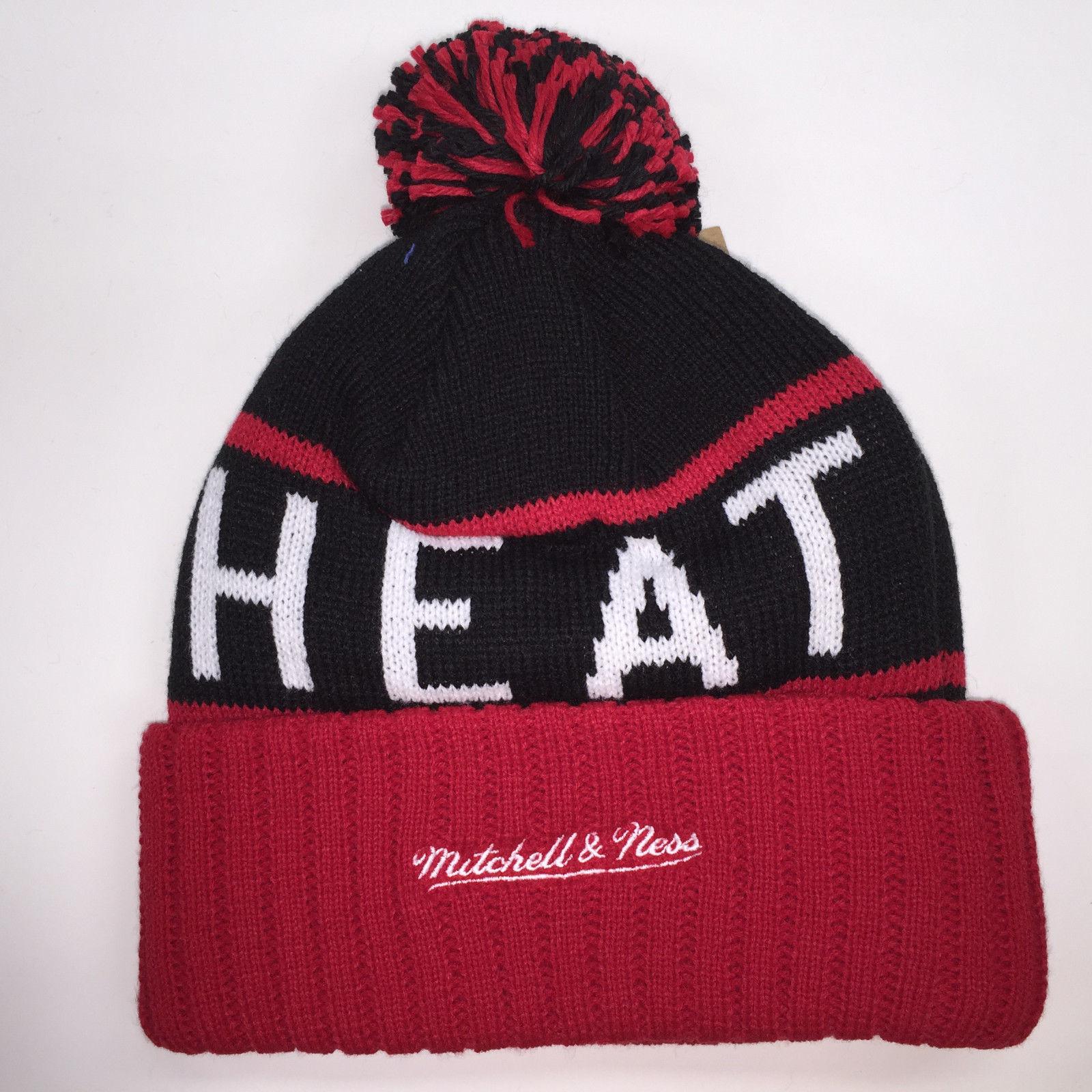 Mitchell & Ness NBA Miami Heat High 5 Cuffed Knit Beanie 11895