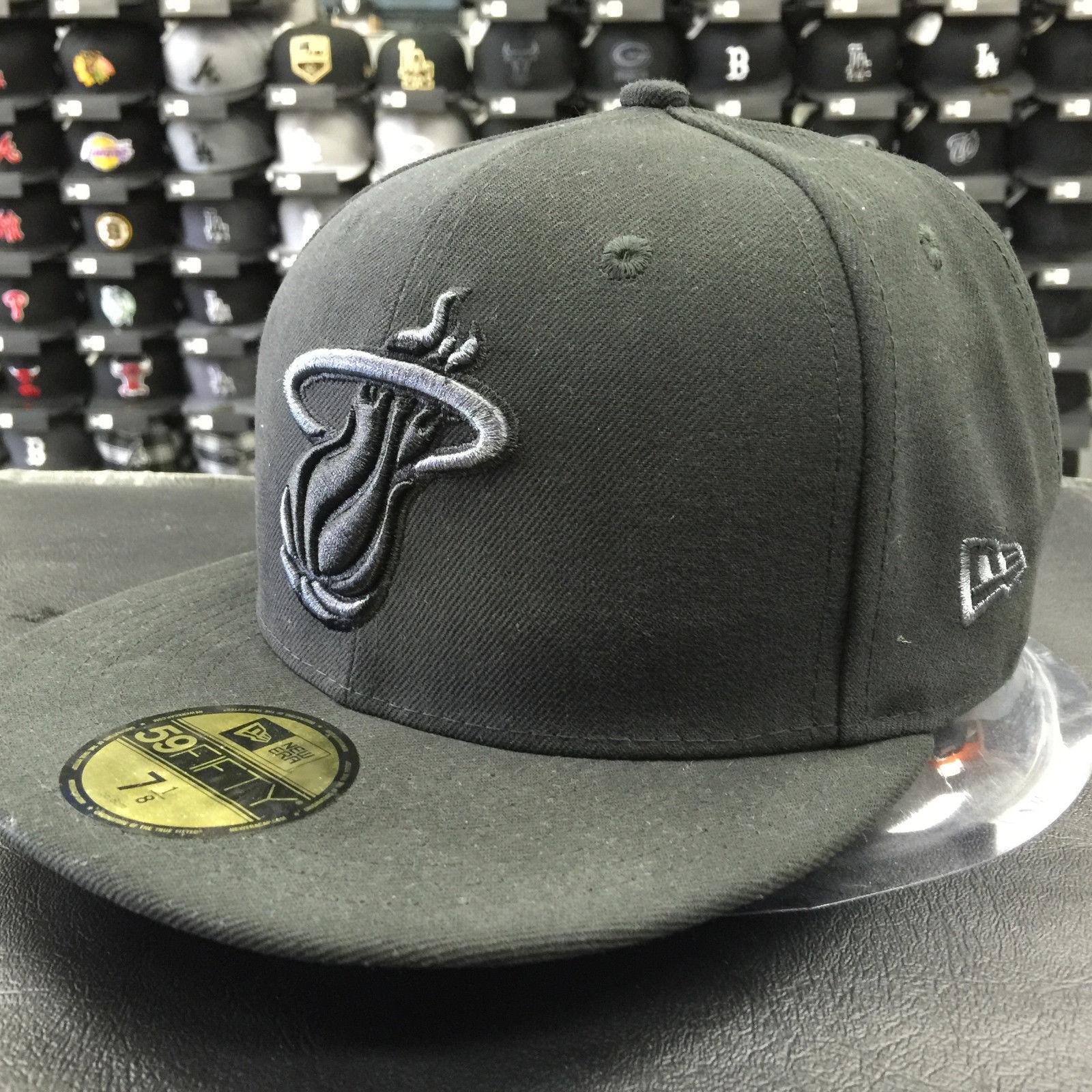 New Era 59Fifty NBA Miami Heat Black Gray Basic Fitted Cap