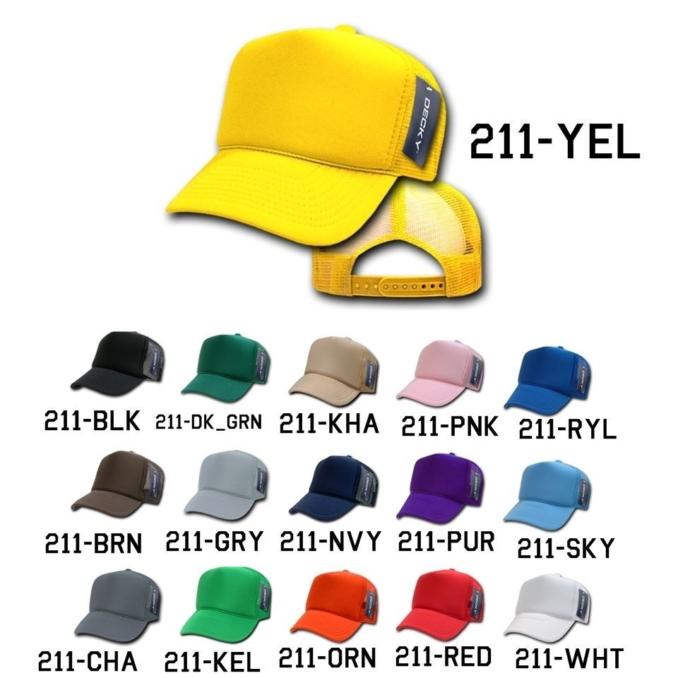 CUSTOM EMBROIDERY Personalized Customized Decky Solid Trucker Snapback Cap 211