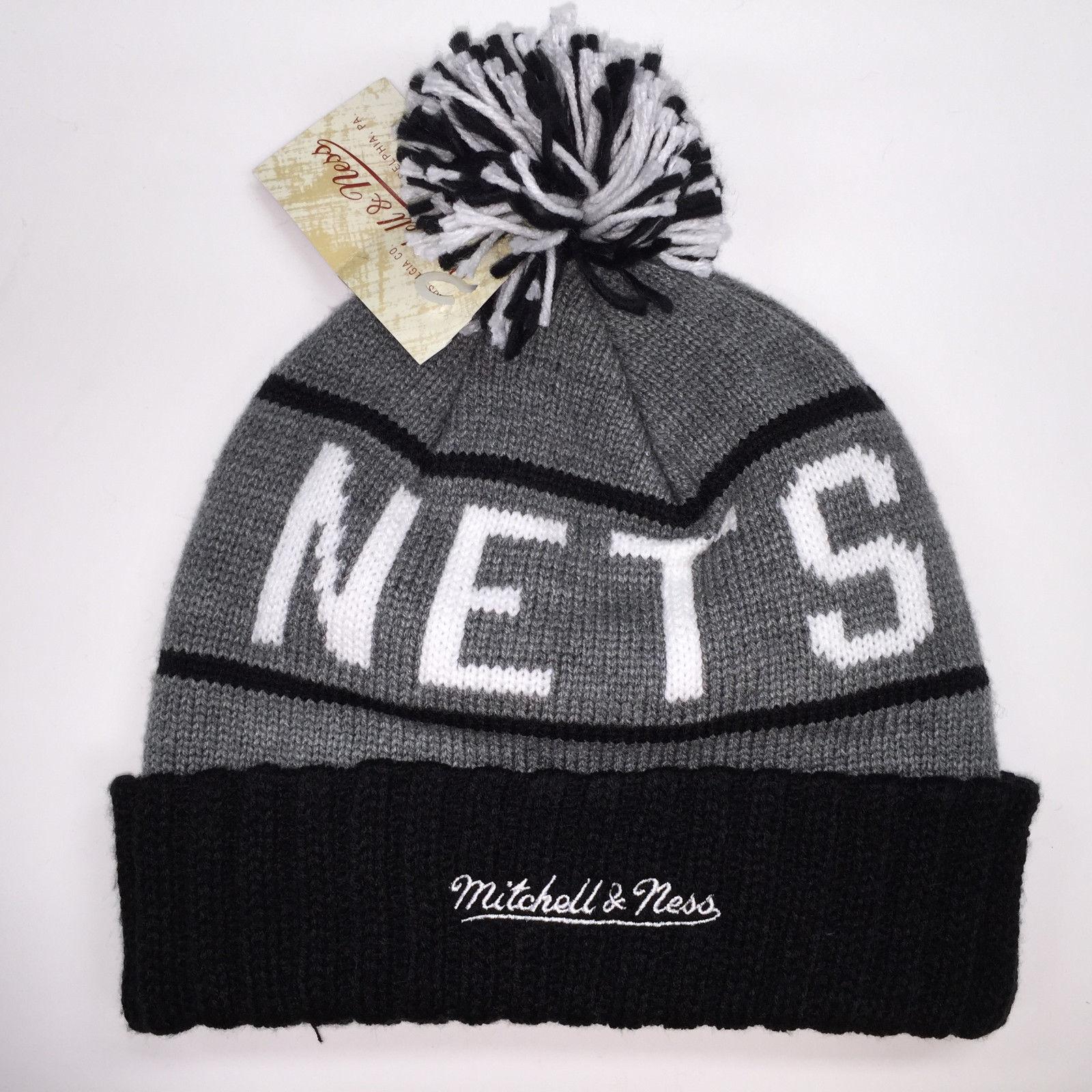Mitchell & Ness NBA Brooklyn Nets High 5 Cuffed Knit Beanie 10093