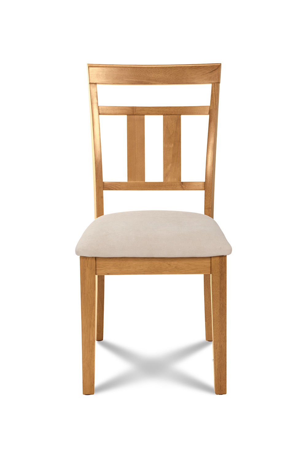 SET OF 6 KITCHEN DINING SIDE CHAIRS w/ SOFT-PADDED SEAT IN  OAK FINISH