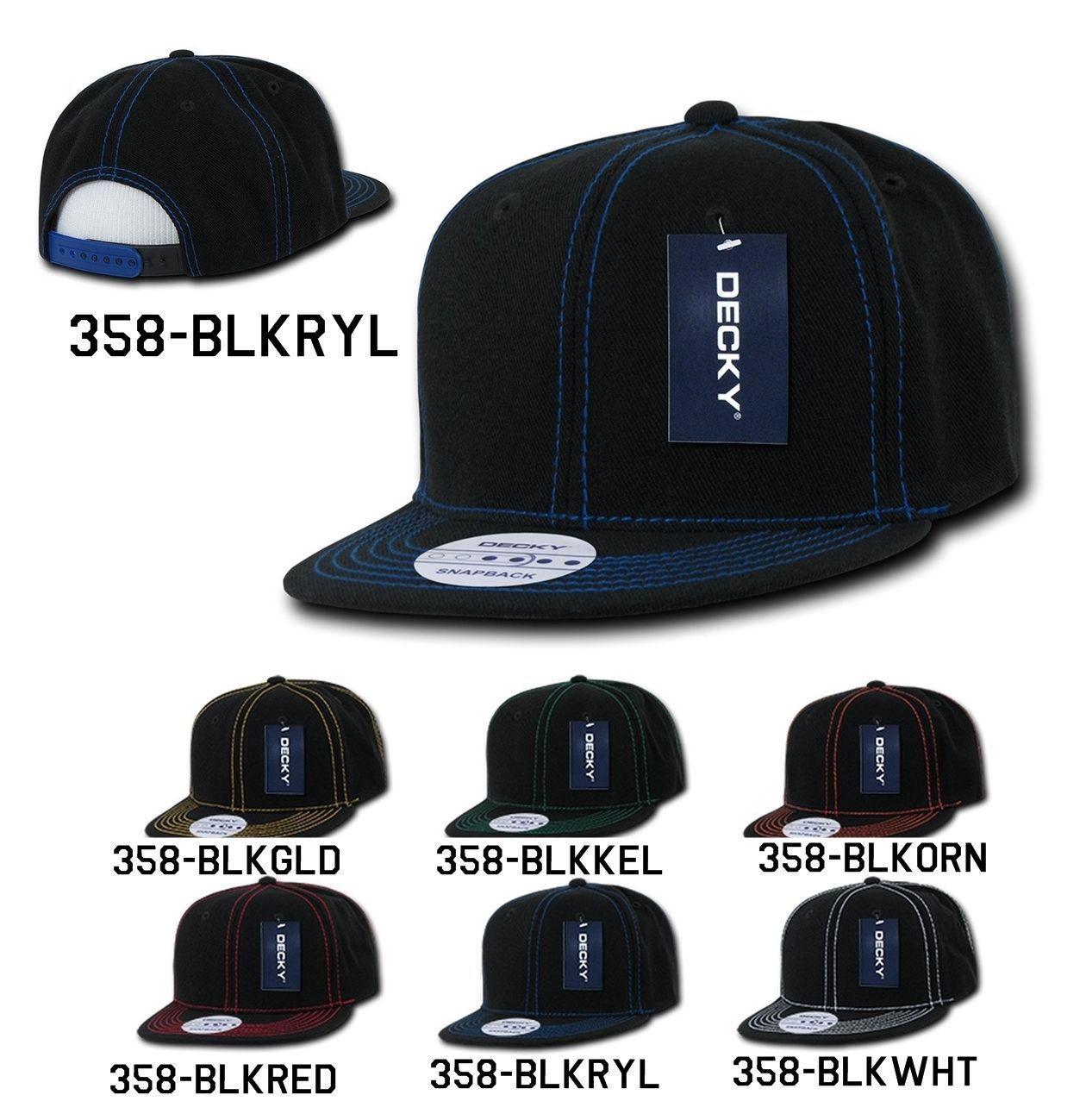 CUSTOM EMBROIDERY Personalized Customized Decky Contra-Stitch Snapback Cap 358