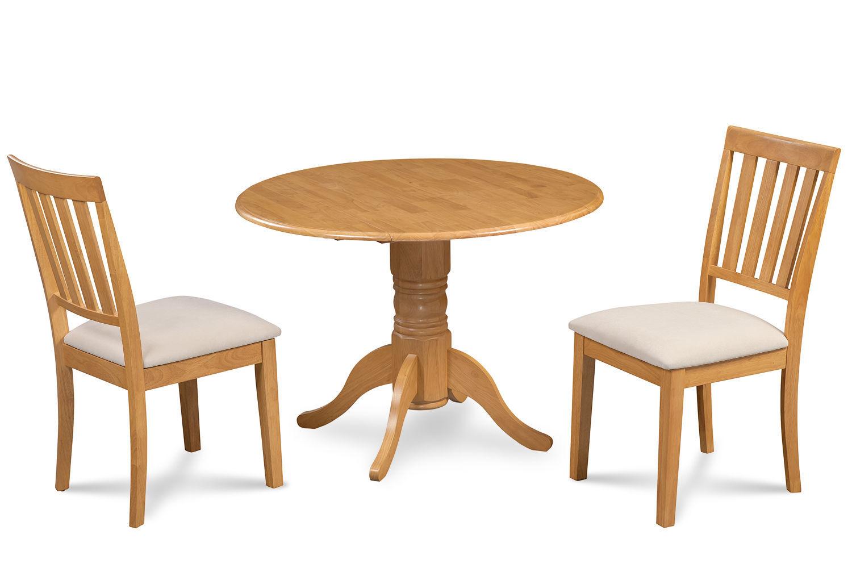 "42"" BURLINGTON DINETTE DINING TABLE SET SOFT-PADDED SEAT CHAIRS OAK FINISH"