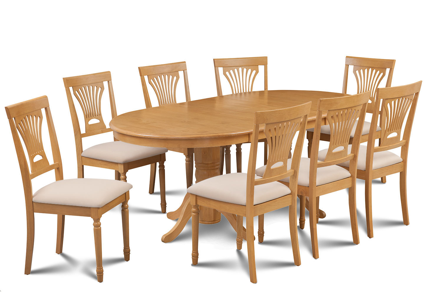 9 piece oval dining room table set w 8 soft padded chairs for 9 pc dining room table sets