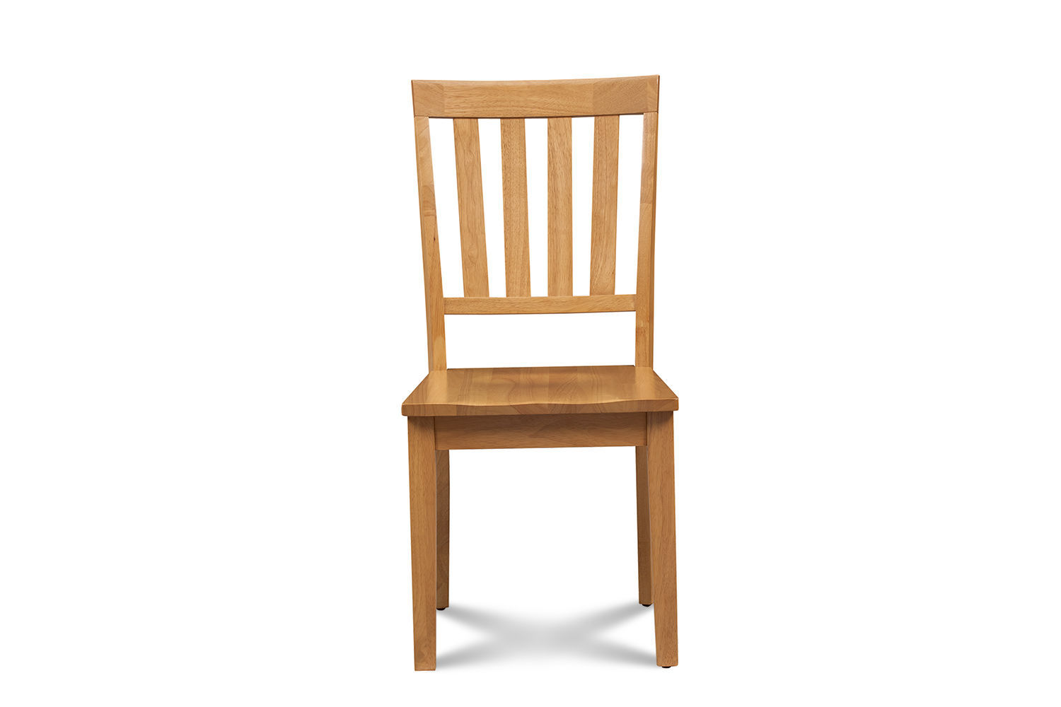 SET OF 6 MOCHA KITCHEN DINING CHAIRS WITH WOODEN SEAT IN OAK FINISH
