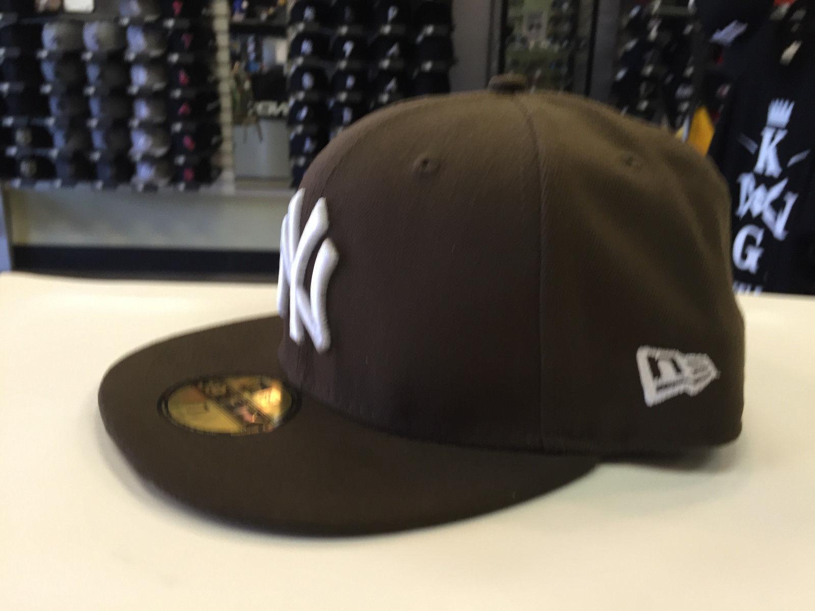 New Era 59Fifty MLB Basic New York Yankees  Walnut 5950 Baseball Fitted Cap Hat