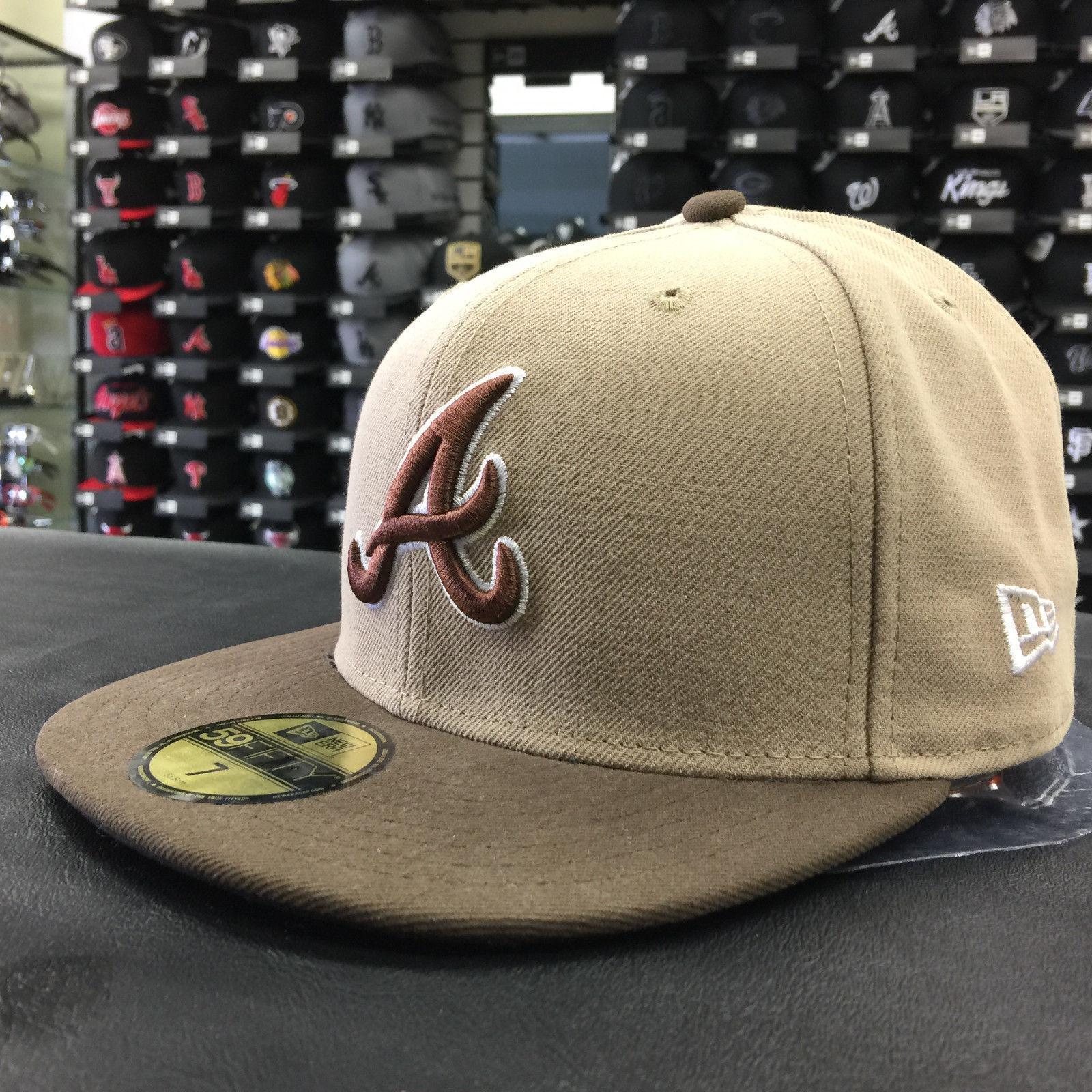 New Era 59Fifty MLB Atlanta Braves Walnut Fitted Cap
