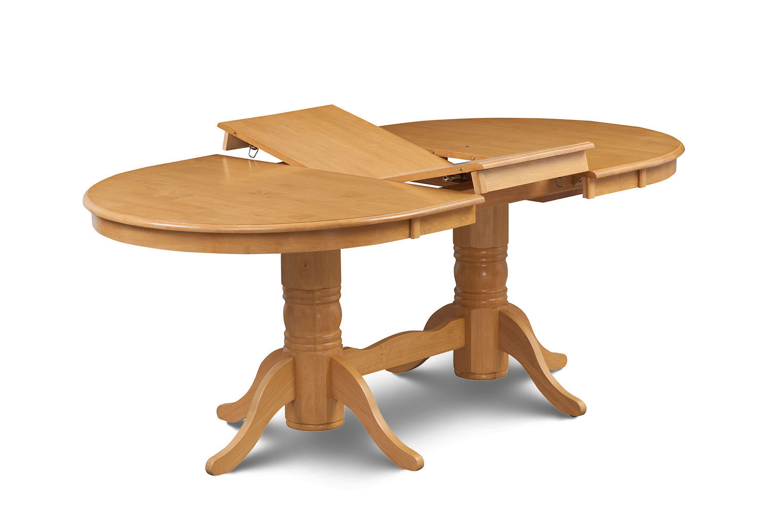 7 PIECE OVAL DINING ROOM TABLE SET w/ 6 WOODEN CHAIRS IN OAK FINISH