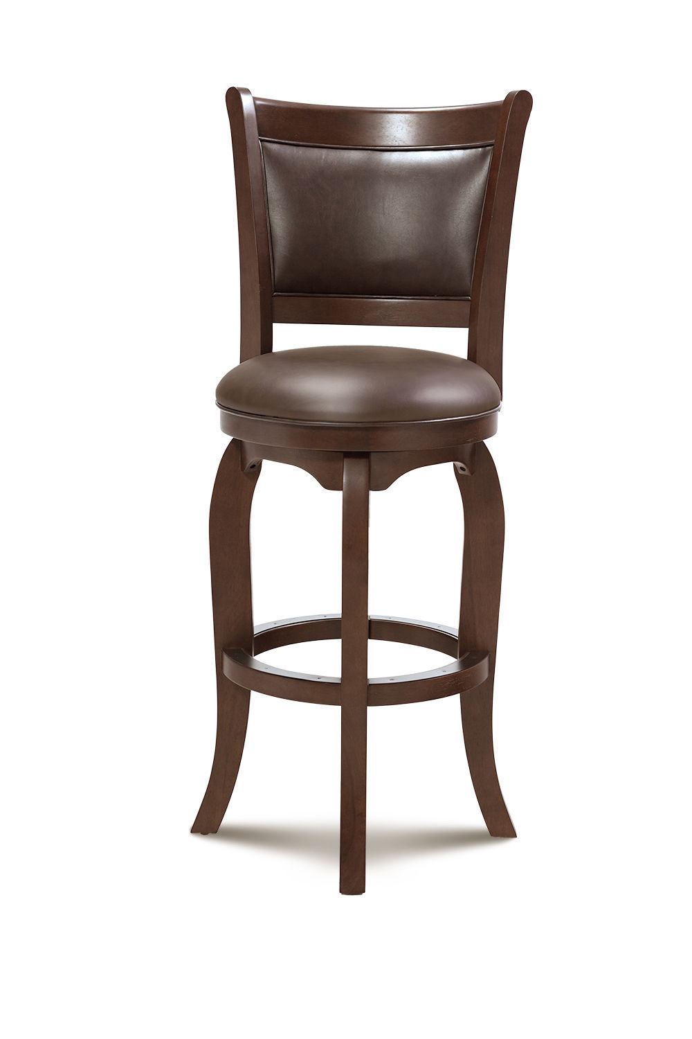 """SET OF 2 BRIGHTON 27"""" COUNTER-HEIGHT SWIVEL BARSTOOL CHAIR IN WARM CHERRY"""