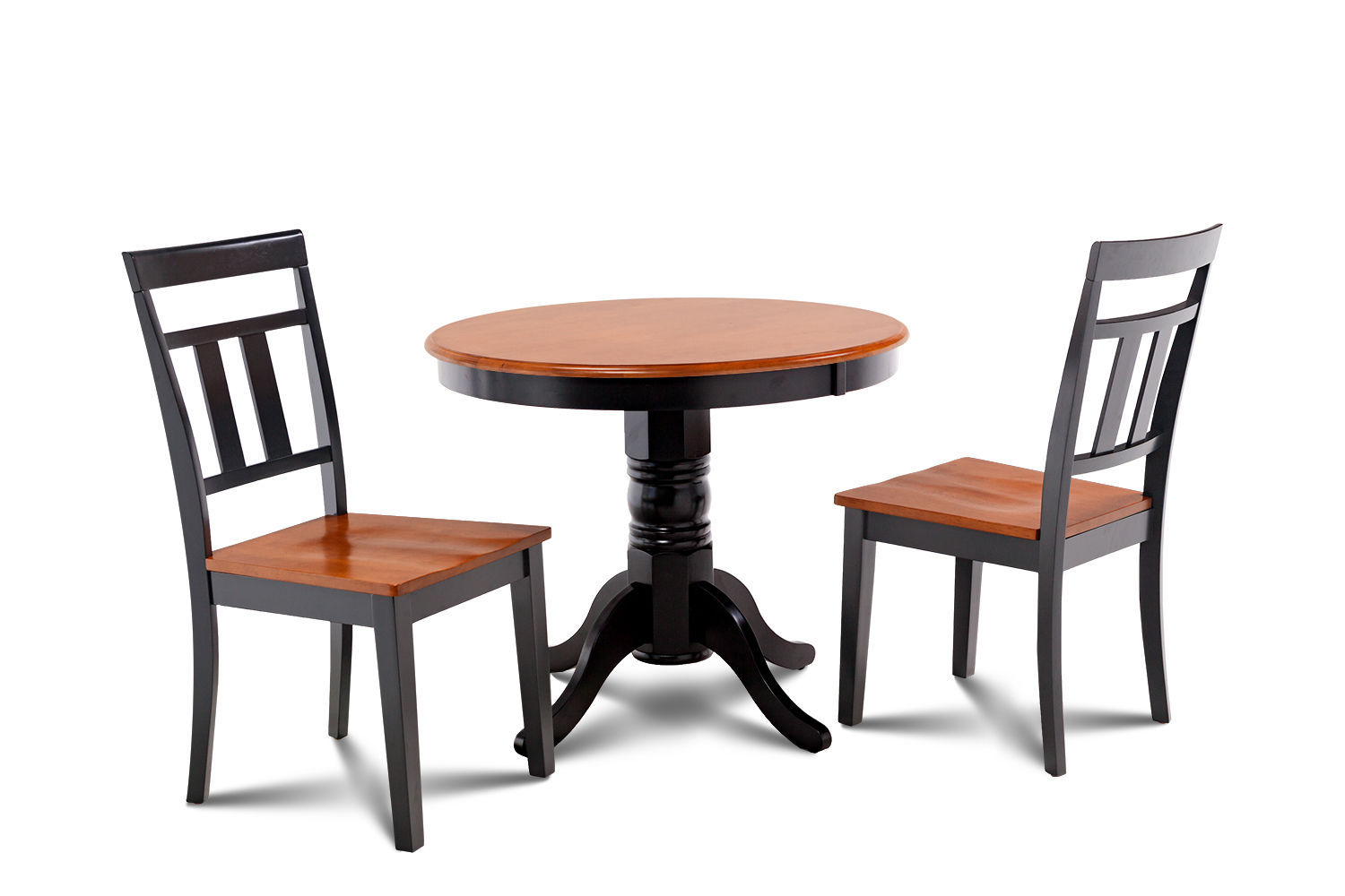 """36"""" BROOKLINE DINETTE DINING ROOM TABLE SET  IN BLACK & CHERRY FINISH"""