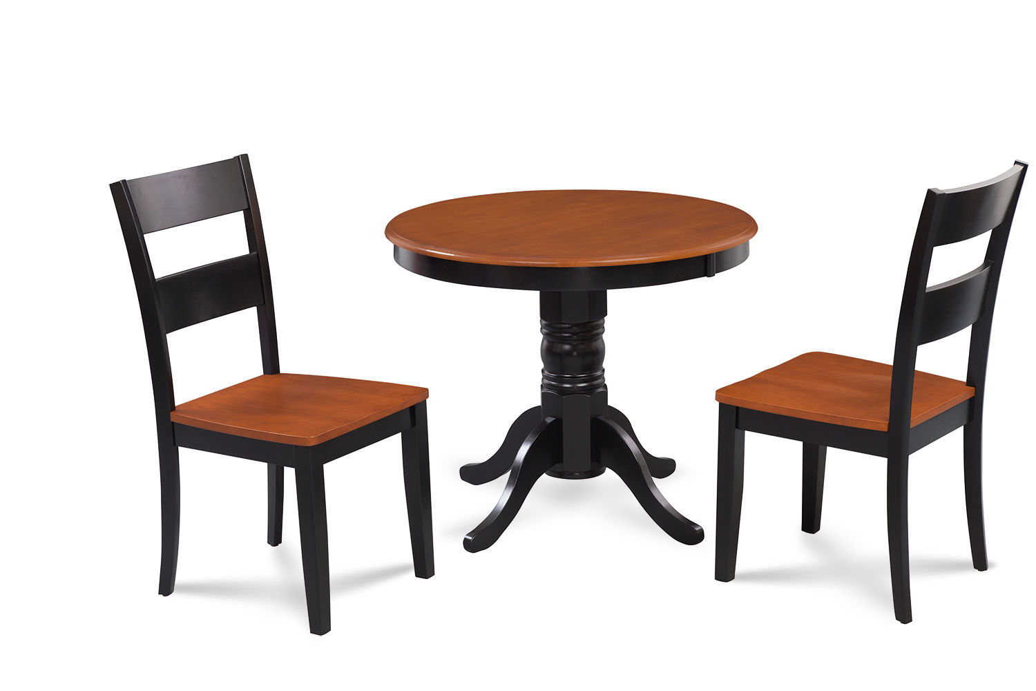 """36"""" BROOKLINE DINETTE DINING ROOM TABLE CHAIR SET  IN BLACK CHERRY FINISH"""
