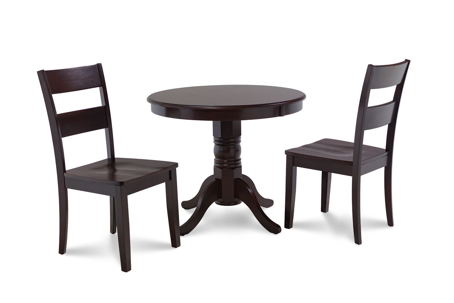 """36"""" BROOKLINE DINETTE DINING ROOM ROUND TABLE SET  IN CAPPUCCINO"""