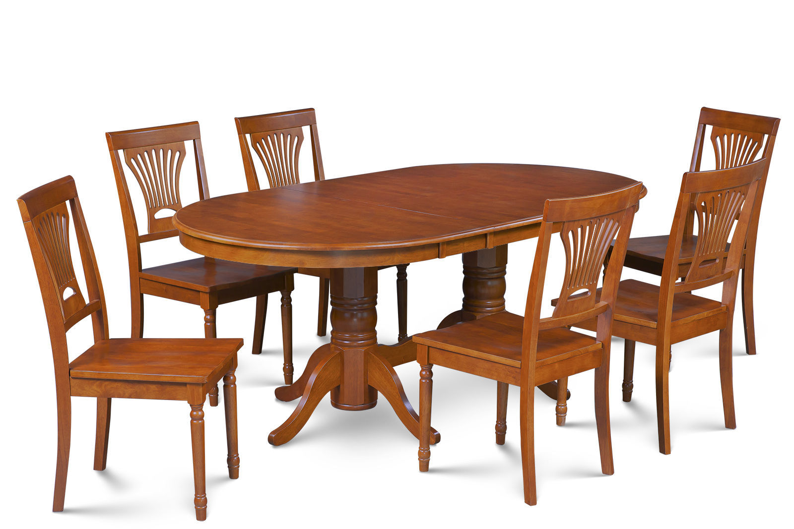 """DINETTE DINING ROOM TABLE SET 42""""X78"""" W. WOODEN SEATS IN SADDLE BROWN"""