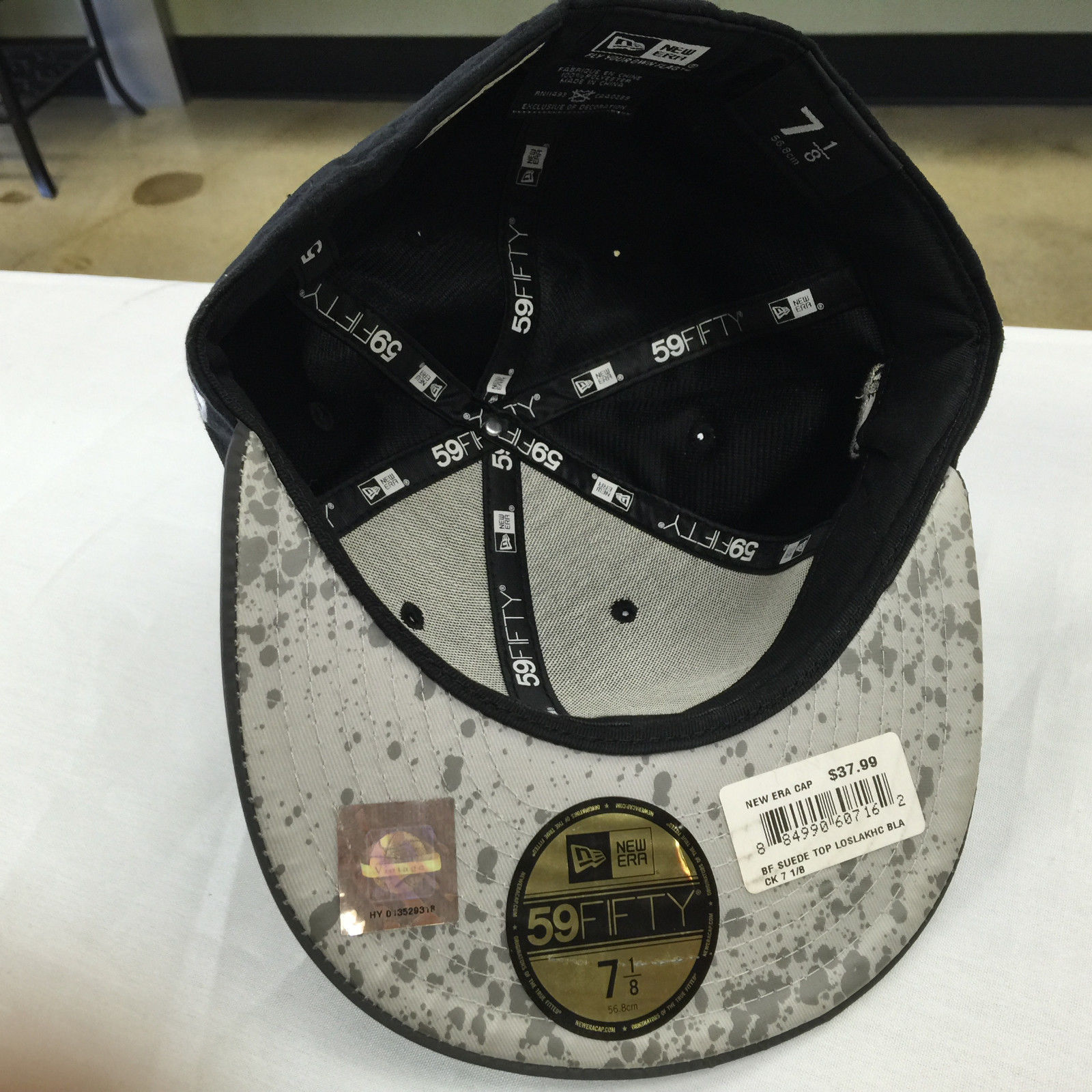 New Era 59Fifty NBA Los Angeles Lakers Black Suede Grey Fitted