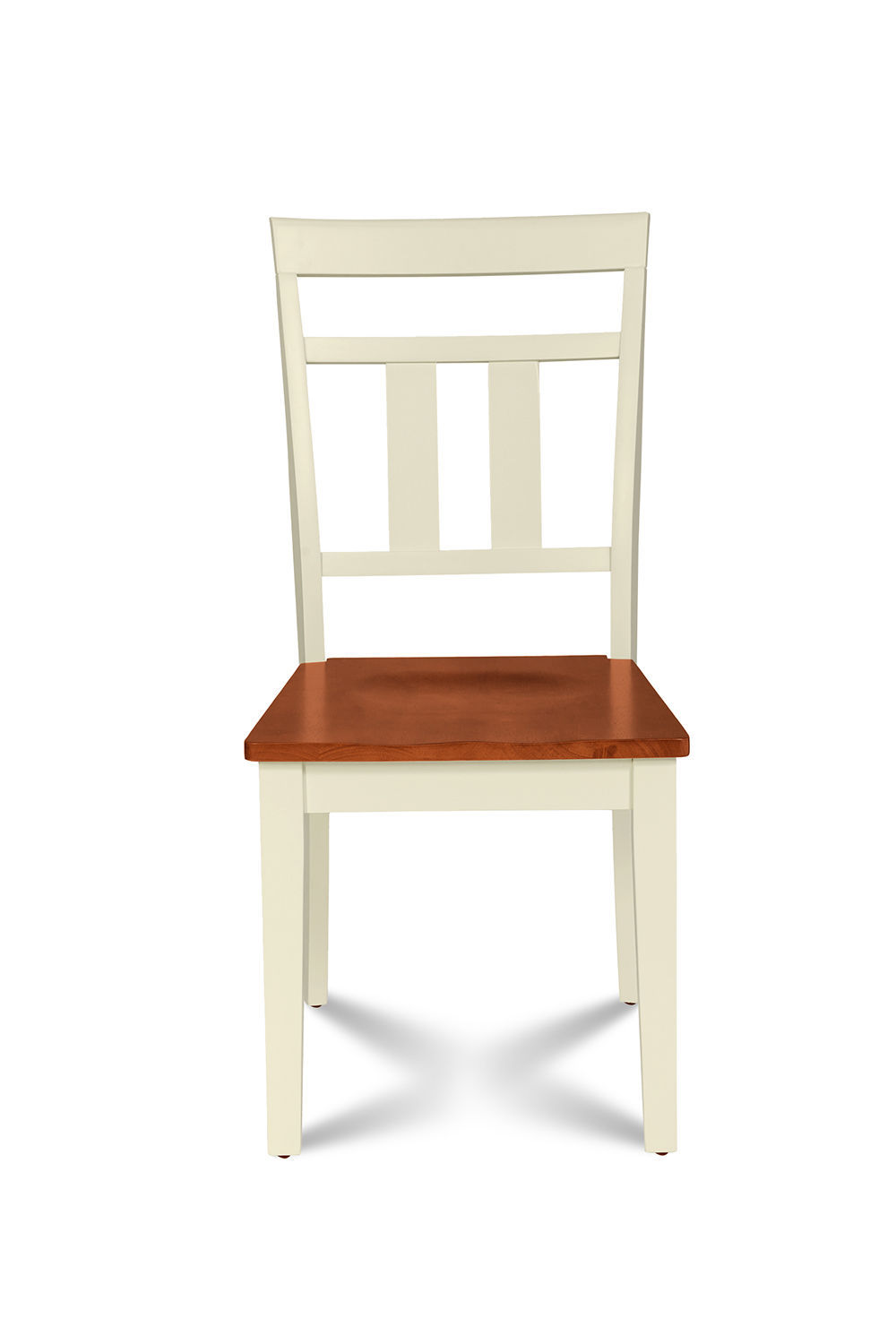 SET OF 6 KITCHEN DINING SIDE CHAIRS w/ WOODEN SEAT IN BUTTERMILK CHERRY