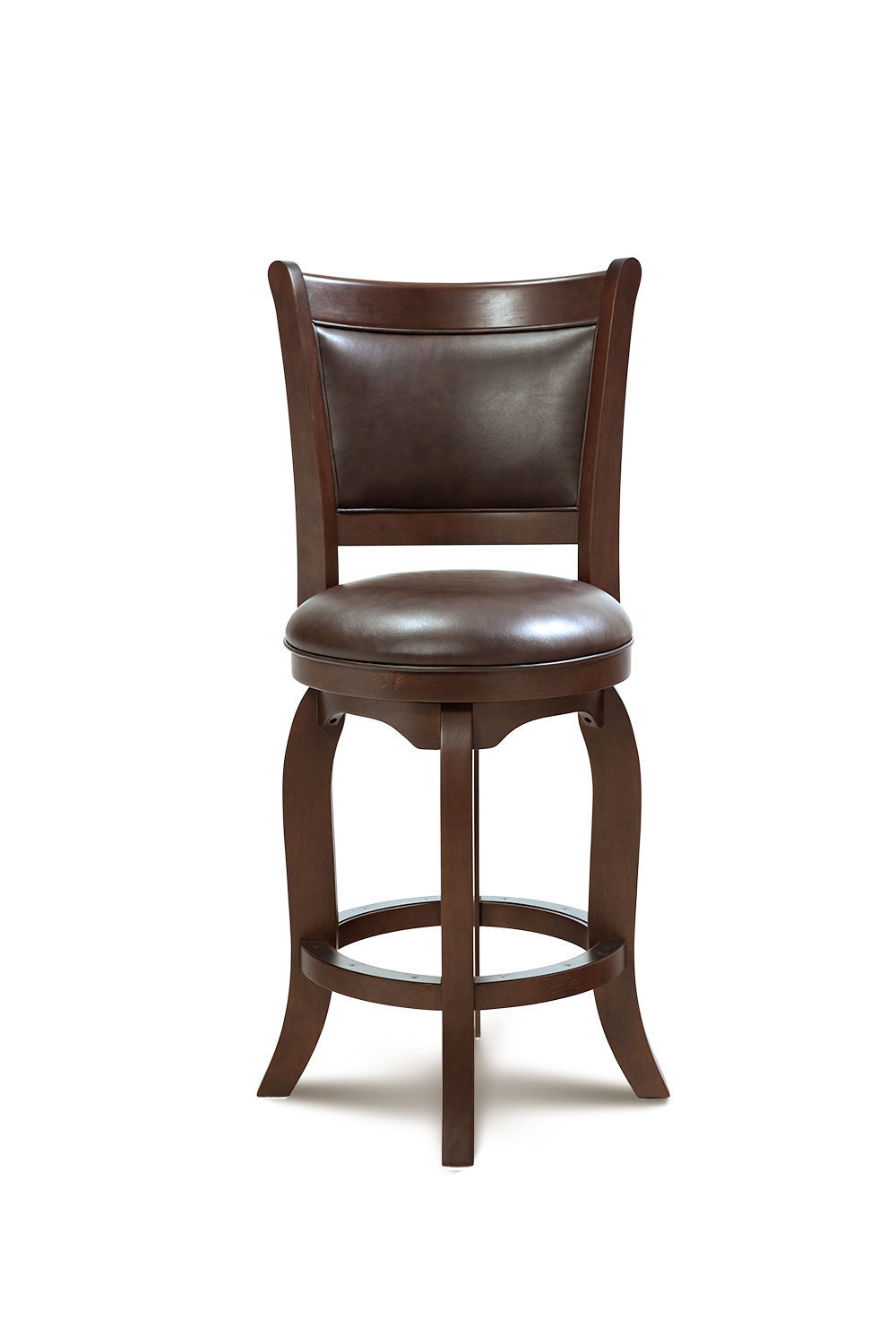 "27"" BRIGHTON COUNTER-HEIGHT SWIVEL BARSTOOL CHAIR IN CHERRY"