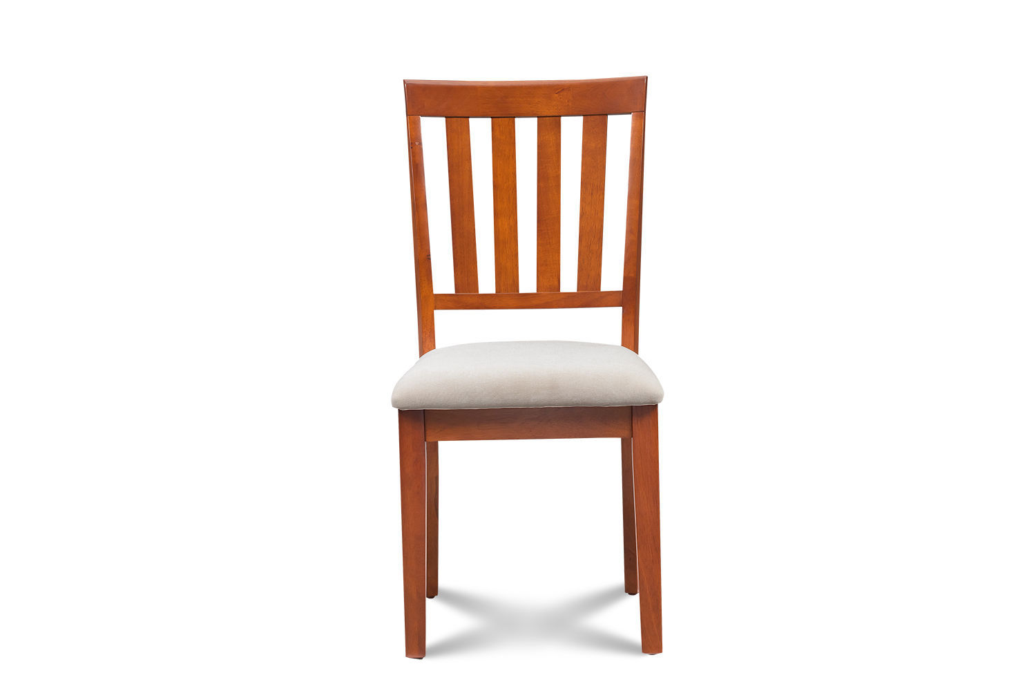 SET OF 4 MOCHA KITCHEN DINING CHAIRS WITH SOFT-PADDED SEAT