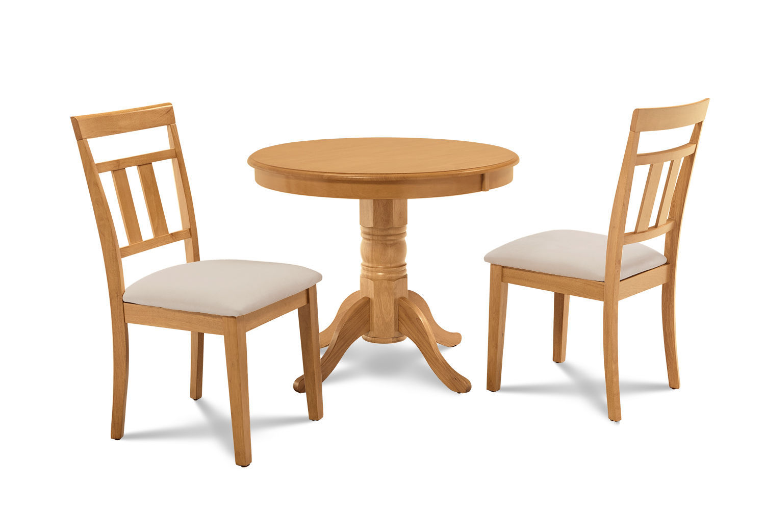 """36"""" BROOKLINE DINETTE DINING ROOM TABLE SET SOFT-PADDED SEAT CHAIRS OAK FINISH"""