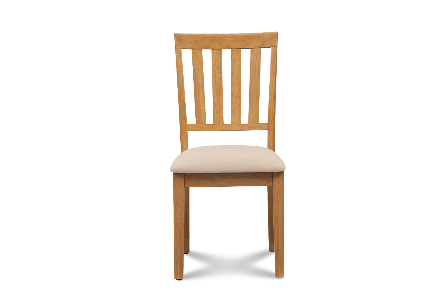 SET OF 2 MOCHA KITCHEN DINING CHAIRS WITH SOFT-PADDED SEAT IN OAK FINISH