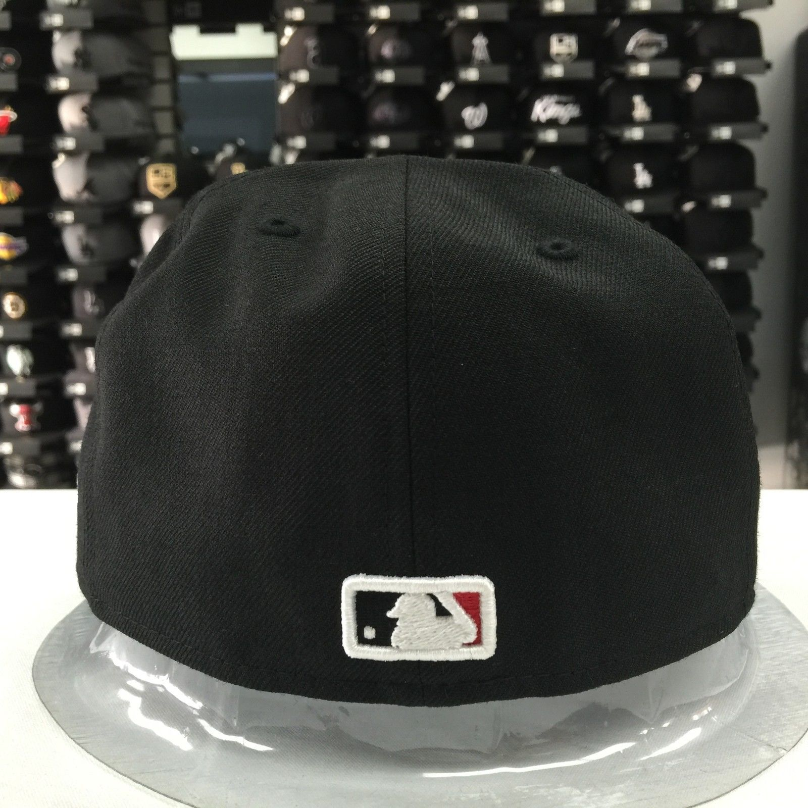 New Era 59Fifty MLB Chicago White Sox Black Red 5950 Baseball Fitted Cap Hat