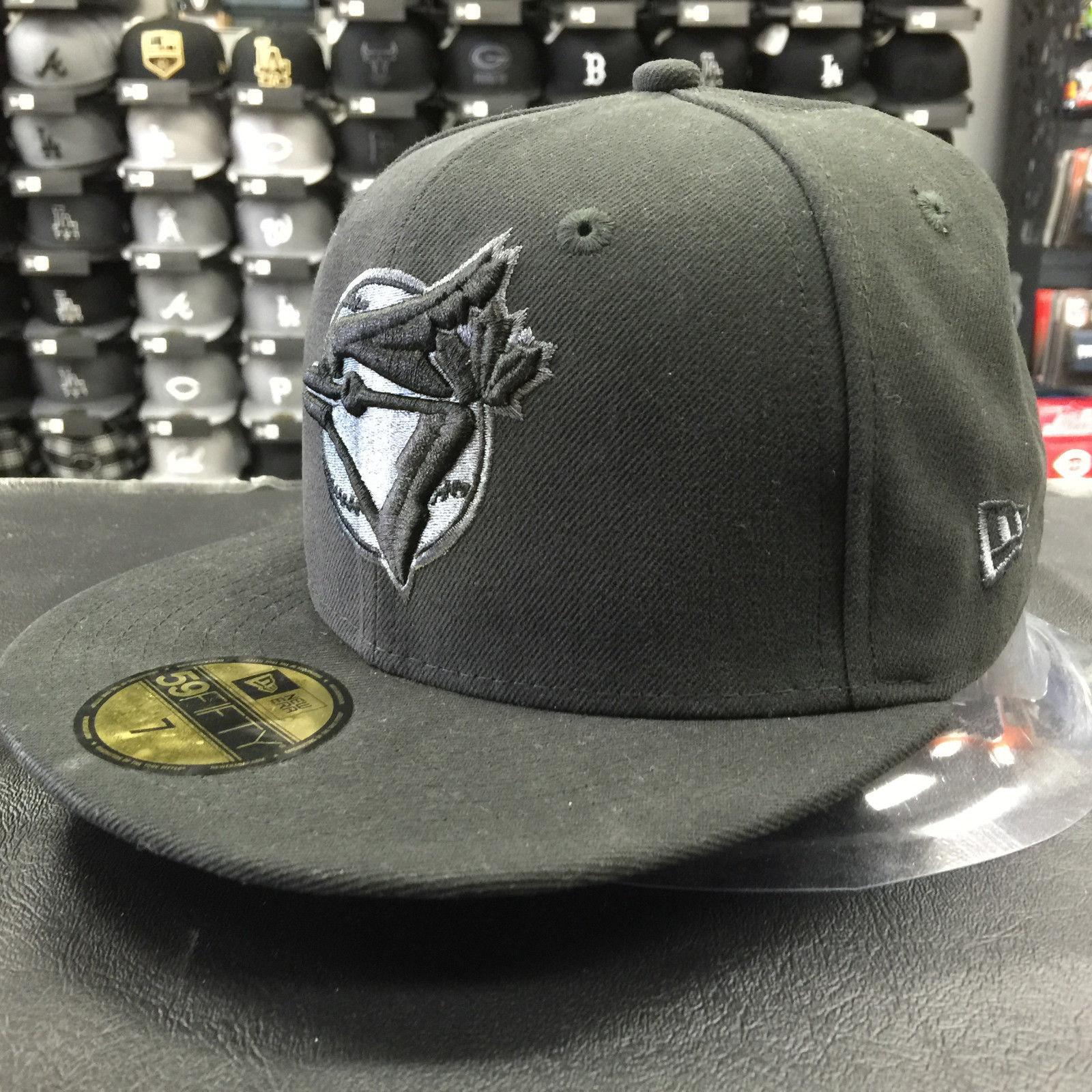 New Era 59Fifty MLB Toronto Blue Jays Black Gray Basic Fitted Cap