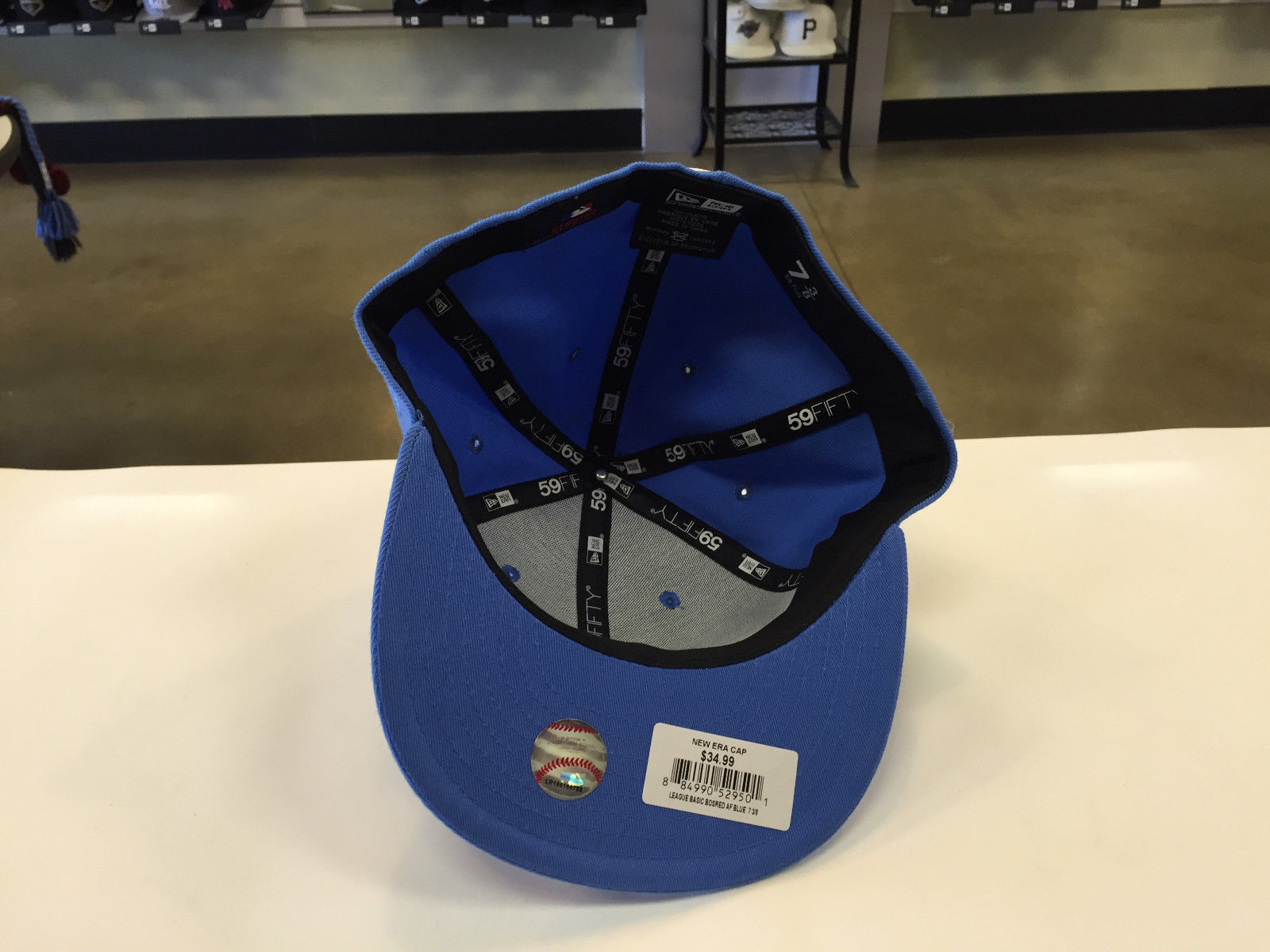 New Era 59Fifty MLB Blue Los Angeles Dodgers Baseball Fitted Cap Hat