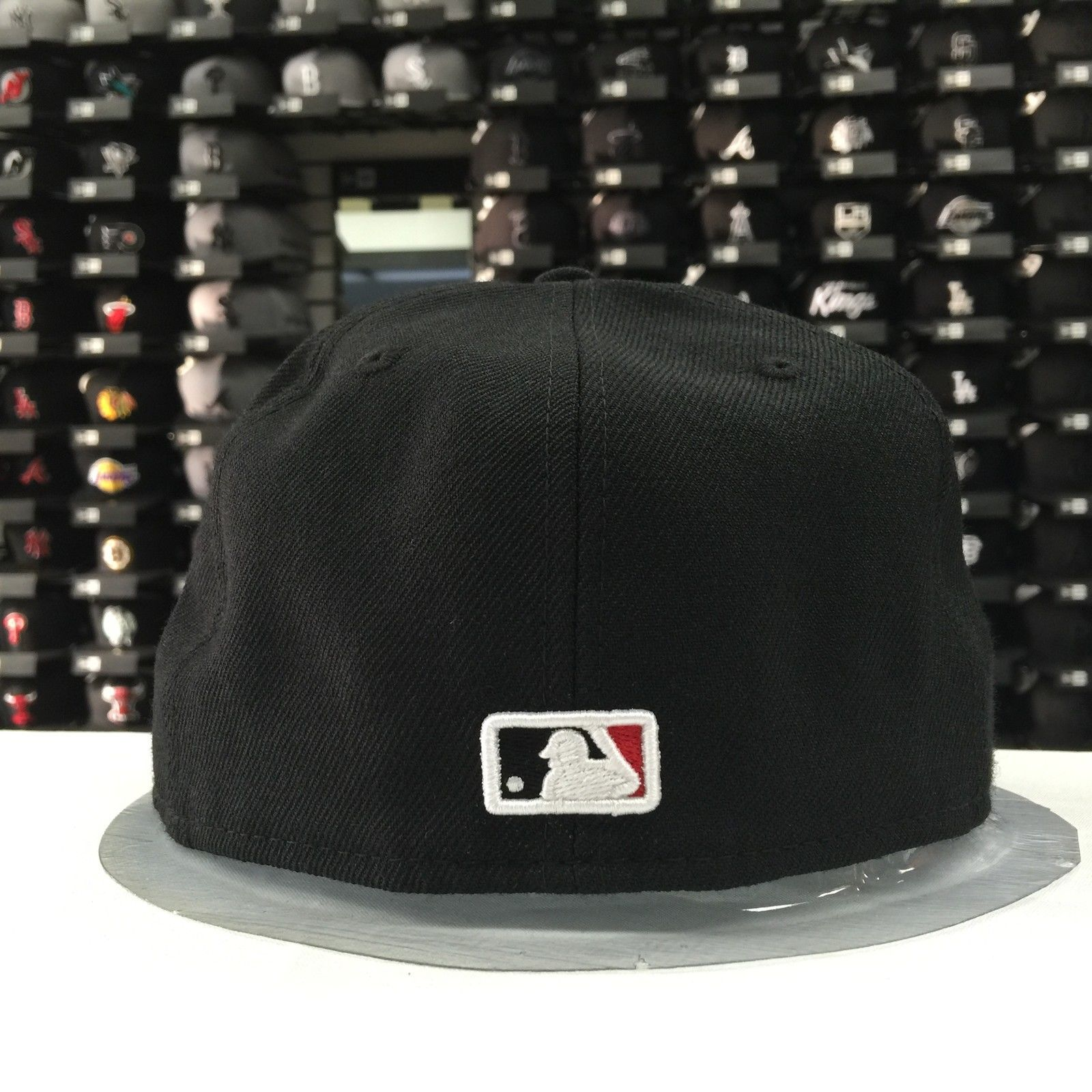 New Era 59Fifty MLB Los Angeles Dodgers Black Red 5950 Baseball Fitted Cap Hat