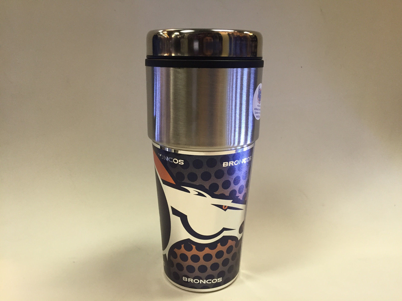 NFL Denver Broncos 360 Wrap Travel Tumbler Coffee Mug 13255