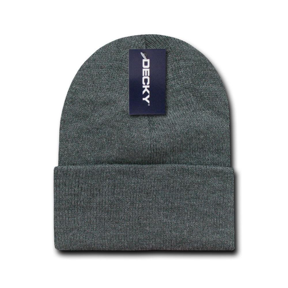DECKY Plain Blank Long Cuff Beanies Knit Ski Snowboard Winter Caps KC