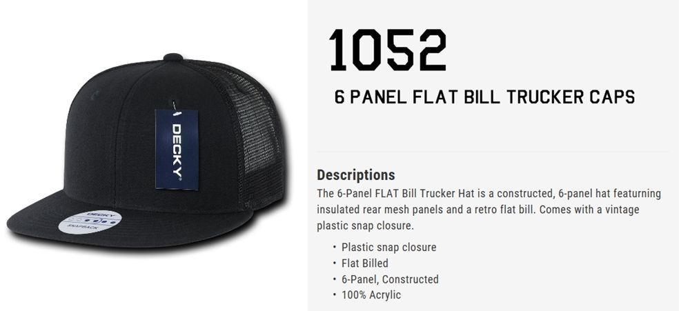 CUSTOM EMBROIDERY Personalized Customized Decky Mesh Trucker Snapback Cap 1052