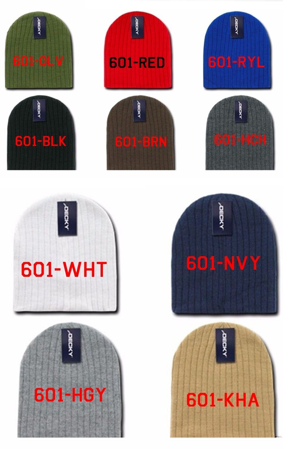 CUSTOM EMBROIDERY Personalized Customized Decky Beanies Cable Knit Cap Hat 601