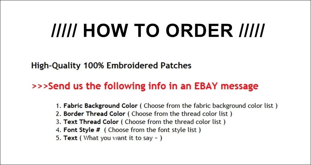 "Custom Embroidered Top and Bottom Rocker Ribbon Patch Biker MC Badge 11"" (E)"