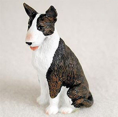 BULL TERRIER (BRINDLE) TINY ONES DOG Figurine Statue Pet Lovers Gift Resin