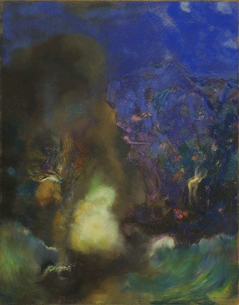 100% Hand Painted Oil on Canvas - Odilon Redon - Roger and Angelica - 30x40 Inch