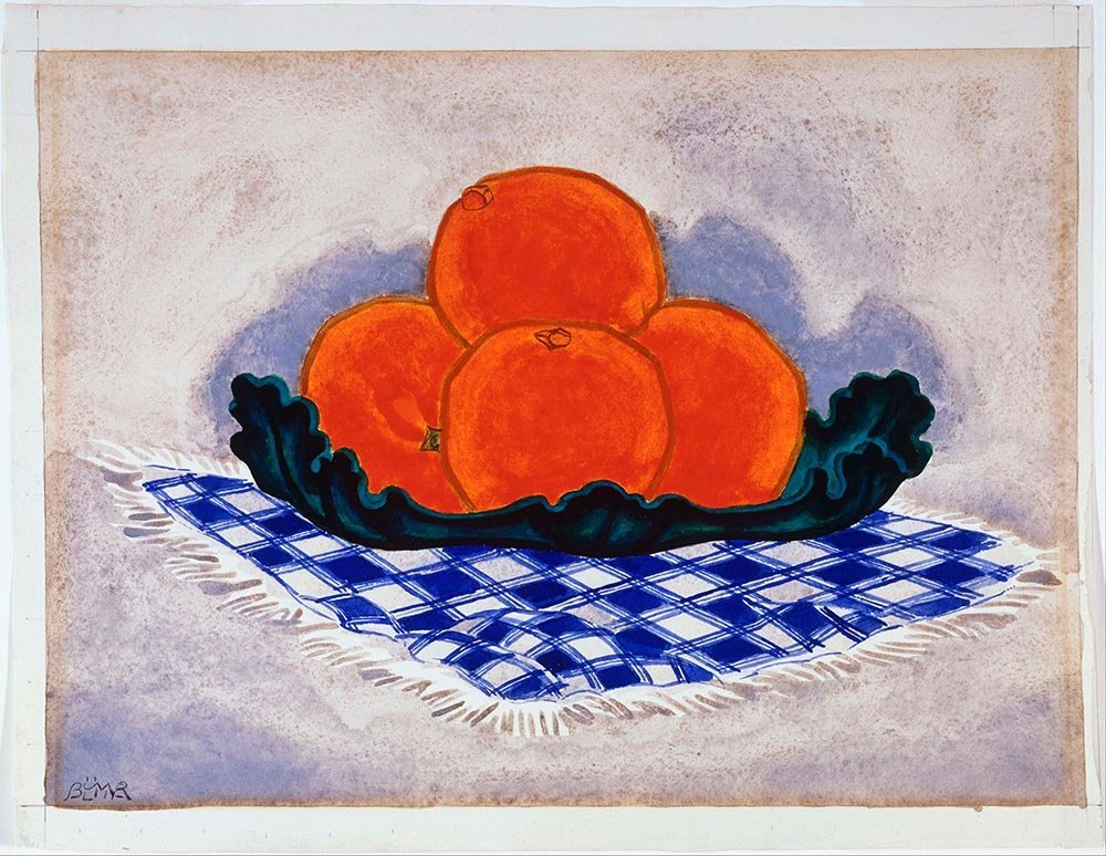 100% Hand Painted Oil on Canvas - Oscar Bluemner - Oranges - 30x40 Inch