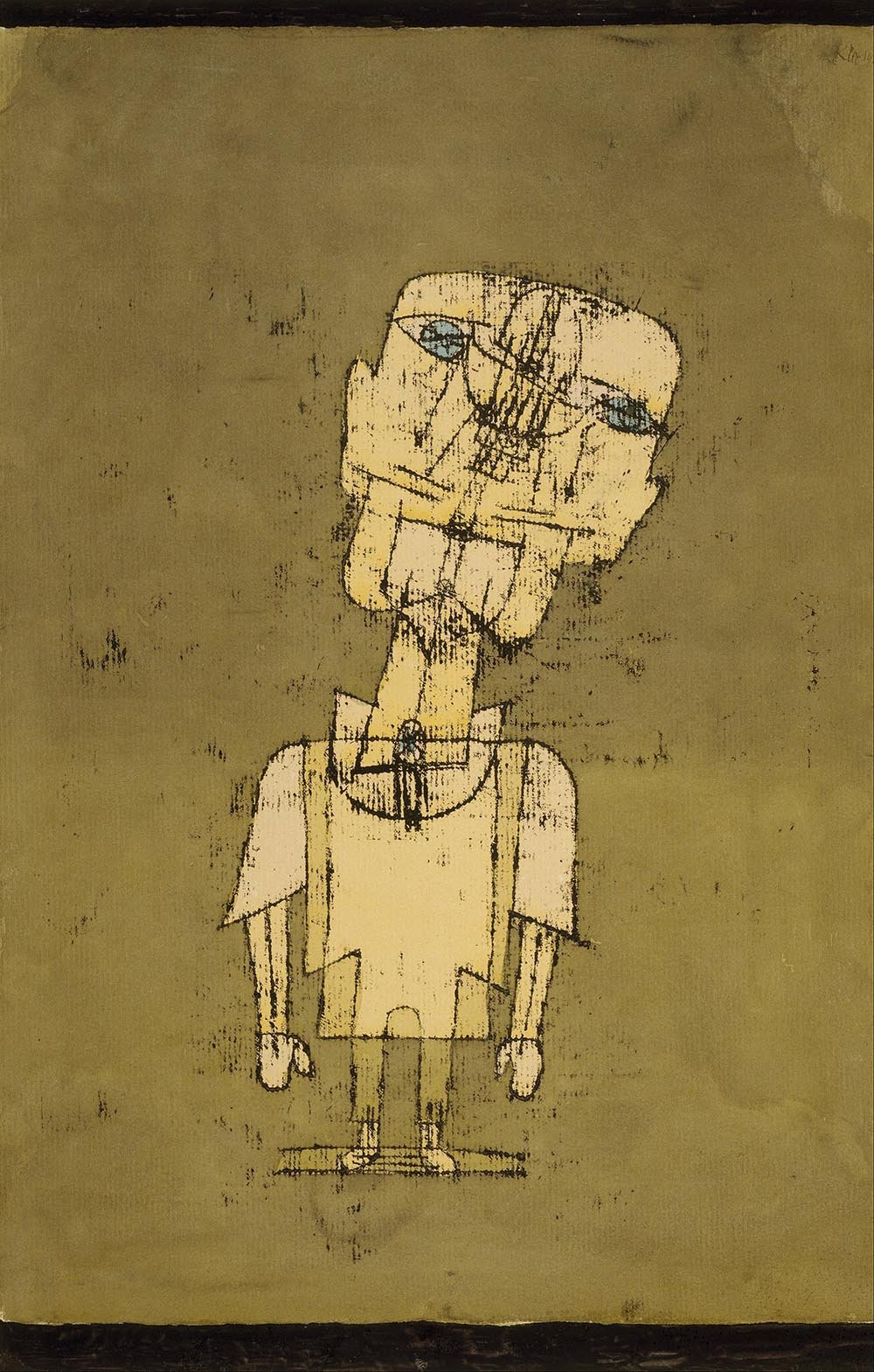 100% Hand Painted Oil on Canvas - Paul Klee - Ghost of a Genius - 30x40 Inch