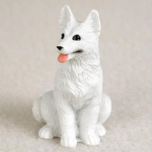 GERMAN SHEPHERD (WHITE) TINY ONES DOG Figurine Statue Pet Lovers Gift Resin - $8.99