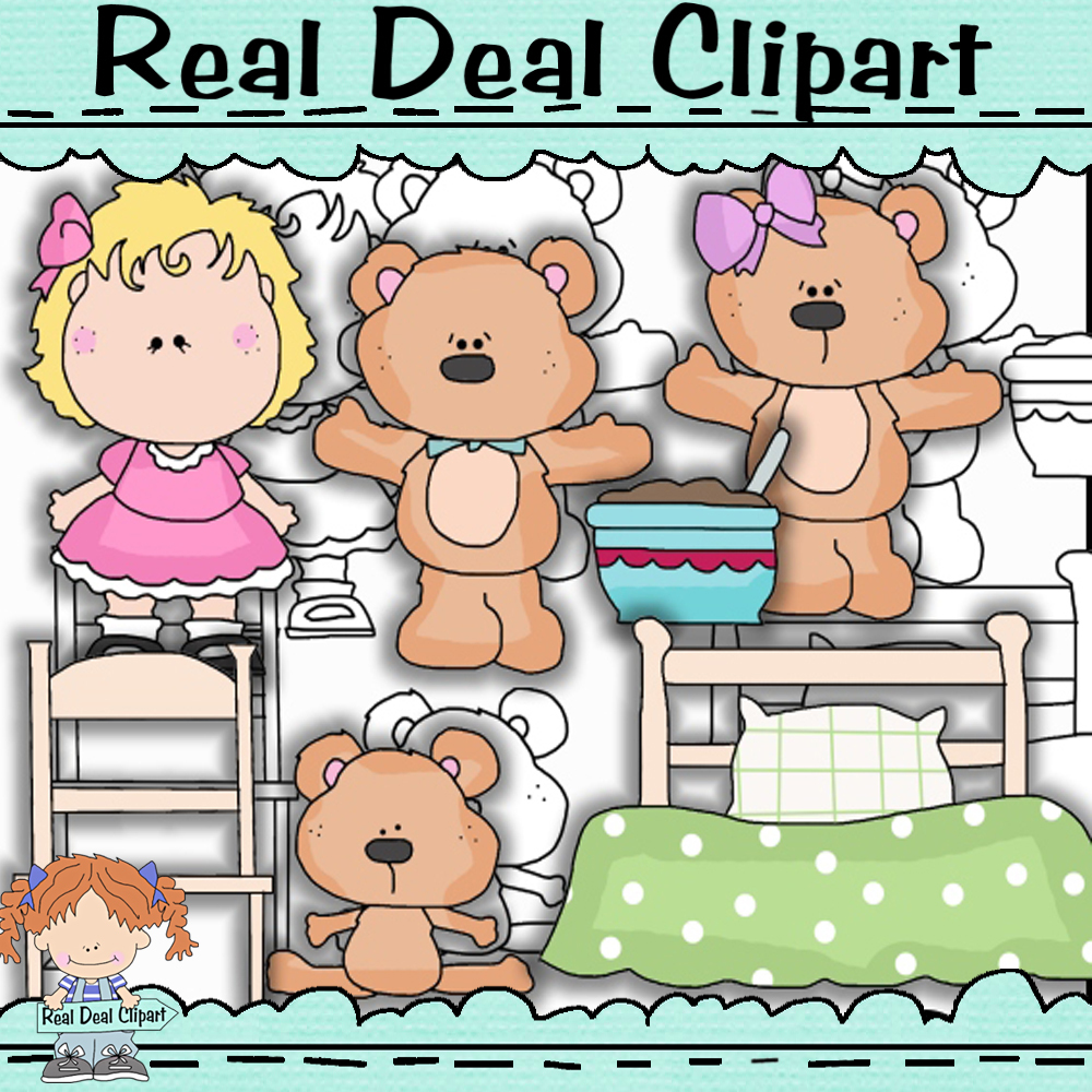 Goldie and the bears clip art