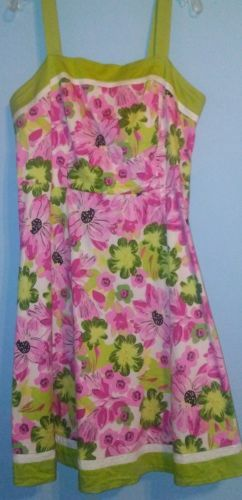Cato Pink Green Floral Sundress Sz 16 Easter Spring Cruise Free Shipping EUC